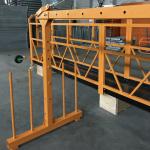platformë me litar teli të pezulluar me një fazë 800 kg 1,8 kw, shpejtësi ngritëse 8 -10 m / min